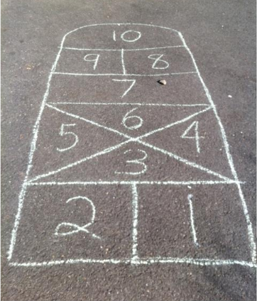 Image of Get A Jump On It hopscotch grid