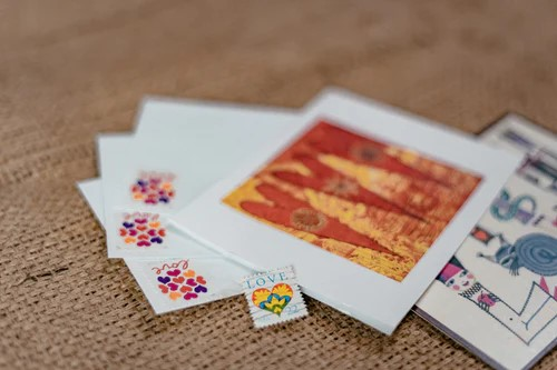 letters and cards on a table